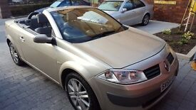 Renault Megane convertible , one year MOT with low miles