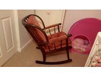 Sprung rocking chair * * solid wood * *
