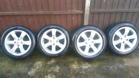 4 alloys with tyres