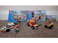 Three Lego City sets 60053, 60054 and 30229