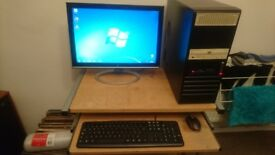 """computer and 22"""" widescreen monitor"""