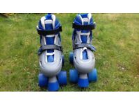 SFR Racing Storm 2 Roller Skates, Blue/Grey size L: 3-6 Excellent condition