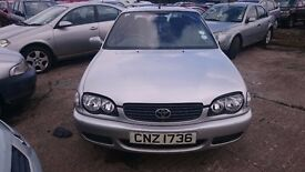 2001 TOYOTA COROLLA, 1.4 PETROL, BREAKING FOR PARTS ONLY, POSTAGE AVAILABLE NATIONWIDE