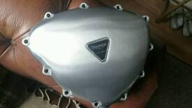 Triumph Bonneville Stator cover brushed and laquered