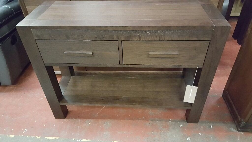 Bentley designs lyon walnut console table in bedford for Gumtree beauty table