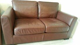 2 seater large italian soft leather sofa