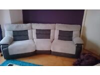 Large Electric Recliner & Matching Manual Recliner Sofa (Cost £2300 New)
