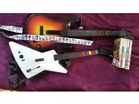 2 Guitar Hero / Rockband guitars and games. Wired and wireless