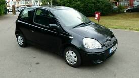 1 YEAR MOT**2005**AIRCON***TOYOTA YARIS SPECIAL EDATION 998cc***BLACK***2 REMOTE KEYS**LOW INSURANCE