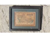 Berkshire Antique Maps By James Wallis/C Hinton Circa 1800