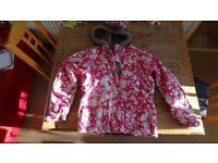Trespass 13 -14 Year Old Girls Pink Camo Ski Jacket