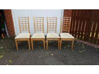 4 Dining Table Chairs FREE DELIVERY (02736)