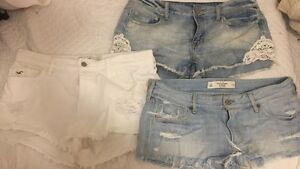 Women's jeans, shorts, athletic wear (variety)