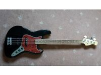 Cruiser Jazz Bass Guitar - with gig bag, strap & jack lead