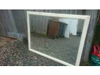 Large mirror - distressed paint work