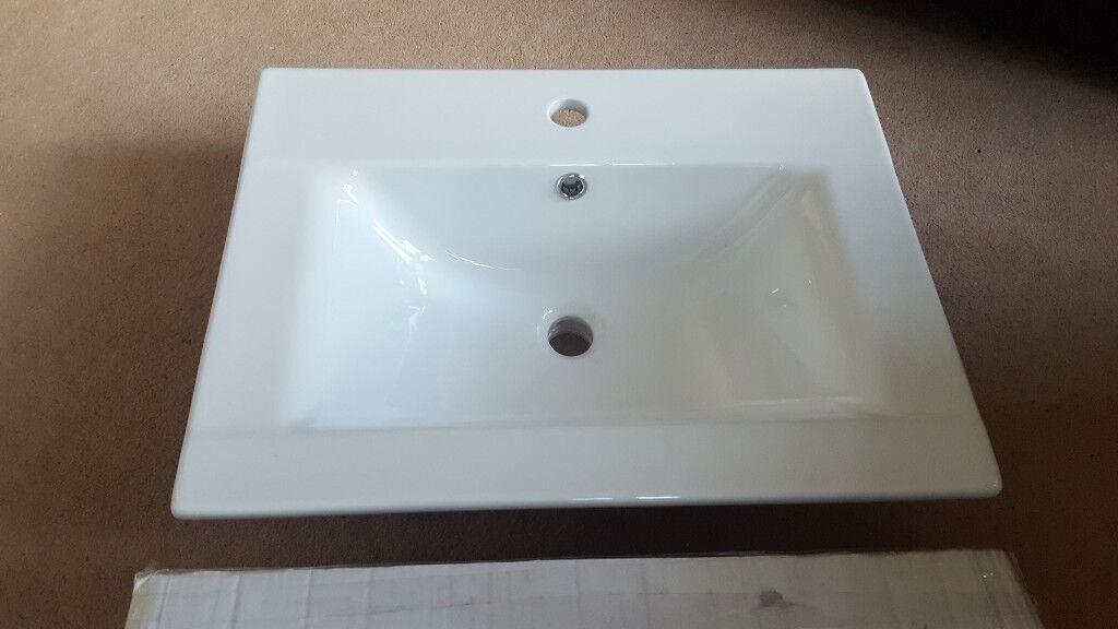 Inset Semi Recessed Bathroom Sink Brand New