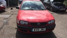 2000 Toyota Corolla Vvti S 3dr 1.4 Petrol Red BREAKING FOR SPARES
