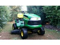 John deere Ride on mower can deliver