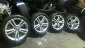 "2 SETS MINT CON GENUINE VAUXHALL 18"" INSIGNIA ALLOYS NEW TYRES ALL ROUND £275 PER SET"