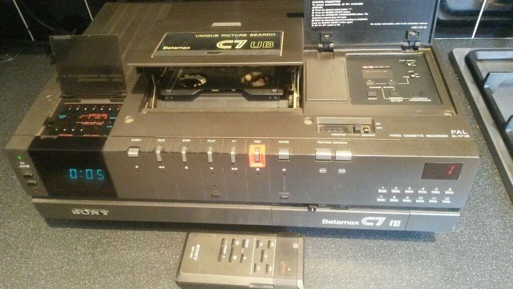 Sony Recording Sony c7 Betamax Video Recorder