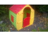 Childrens Play house - £5 (cost £40), one of plastic windows is cracked - but is removable (see pic)