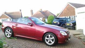Hot summer fun! Mercedes Benz SLK 320, red, hard top convertible, petrol, manual.