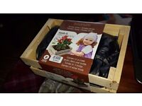 Brand New - Grow your own Vegetable Garden in Small Wooden Crate - Tomato