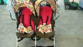Cosatto twin push chair