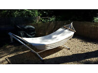 Metal framed hammock in good condition ideal for the summer