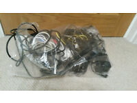Computer cables and power cables - large bag of assorted cables