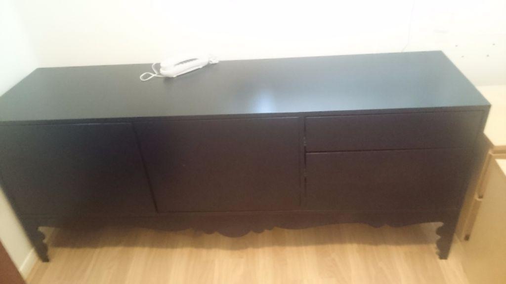 Credenza Trollsta Ikea : Ikea trollsta sideboard in black possible tv stand hebburn