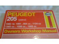 Peugeot 205 GTI - classic car haynes manual