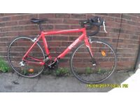 B/TWIN TRIBAN 3 RACING BIKE 24 SPEED LIGHTWEIGHT 51cm ALLOY FRAME/CARBON FORKS EXC COND V/LITTLE USE