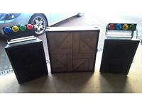 DISCO SPEAKERS,LIGHT CABINET,LIGHTCONTROLLER AND AUX EXTRA LIGHTS