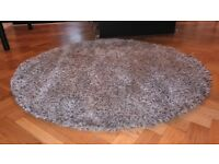IKEA BALUM ROUND RUG IN BROWN & CREAM 130CM
