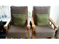 conservatory furniture two seater sofa and two chairs