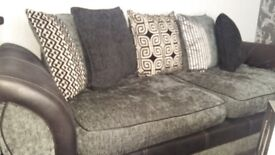 3 Seater Sofa Black & Grey
