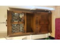 Oak display cabinet unit ..... furniture ... collect Kesgrave