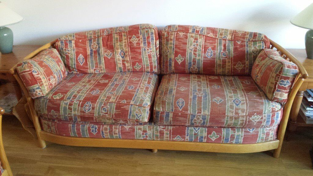 Ercol Renaissance Suite 3 Seater Sofa 2 Chairs