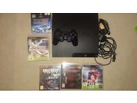 Playstation 3 slim console bundle fifa 2016 call of duty ghosts metal gear solid the phanthom menace