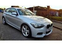 2012 BMW 1 SERIES 2.0 118D M SPORT 3 DOOR HATCHBACK 1 YEAR MOT 50.000 MILES
