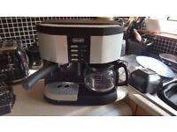 delonghi duo coffee machine Espresso to Cappuccino to Filter Coffee