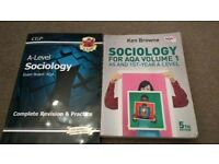 A level sociology AQA complete revision and practice book CGP + Vol 1 AS &1st yr A level 5th edtn bk