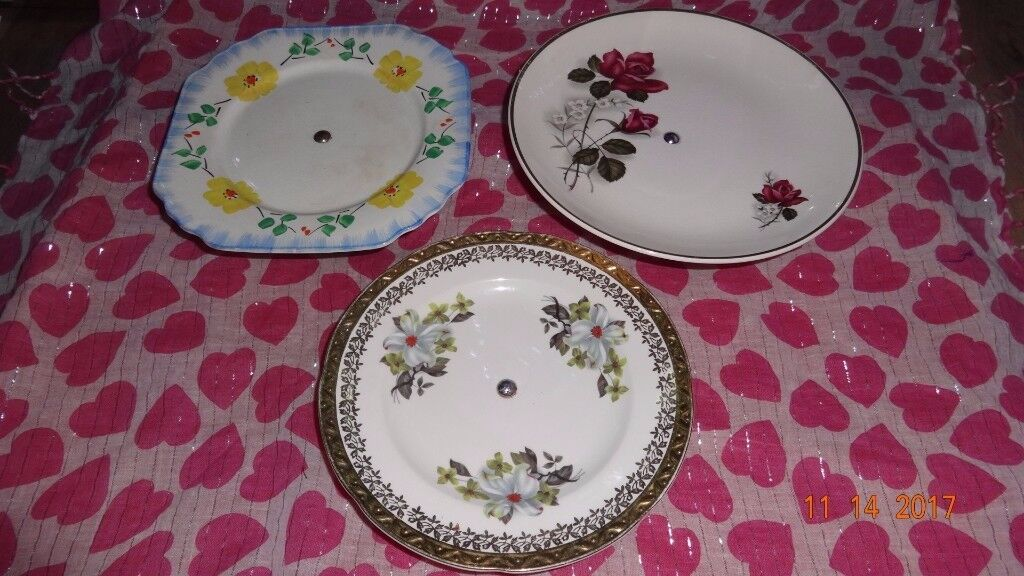 3 Vintage Cake Display Stands/Tea Party/Wedding Shabby Chic Projects