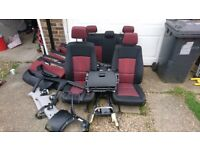BMW X1 E84 INTERIOR SEATS NON LEATHER 2009 TO 2014 AIRBAG ROOF LINER DOOR CARDS, GLOVE BOX