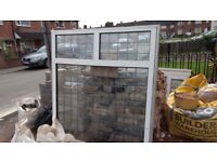 Double Glazing PVC White Window