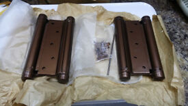 """Pair of New 6"""" Double Action Spring Hinges"""