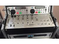 Kam twin cd mixer in case dj disco