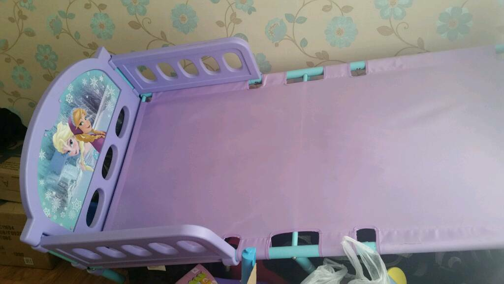 Frozen toddler bed. Mattress included if needed