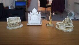 Landmark Decorations (The Colosseum, St. Peter's Basilica, Burj Khalifa, Taj Mahal)